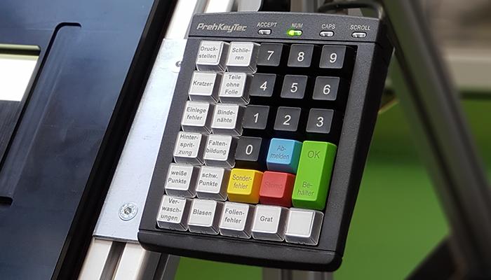 Sichtprüfplatz Tastatur