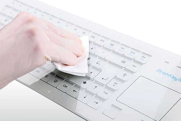 Reinigung Glastastatur