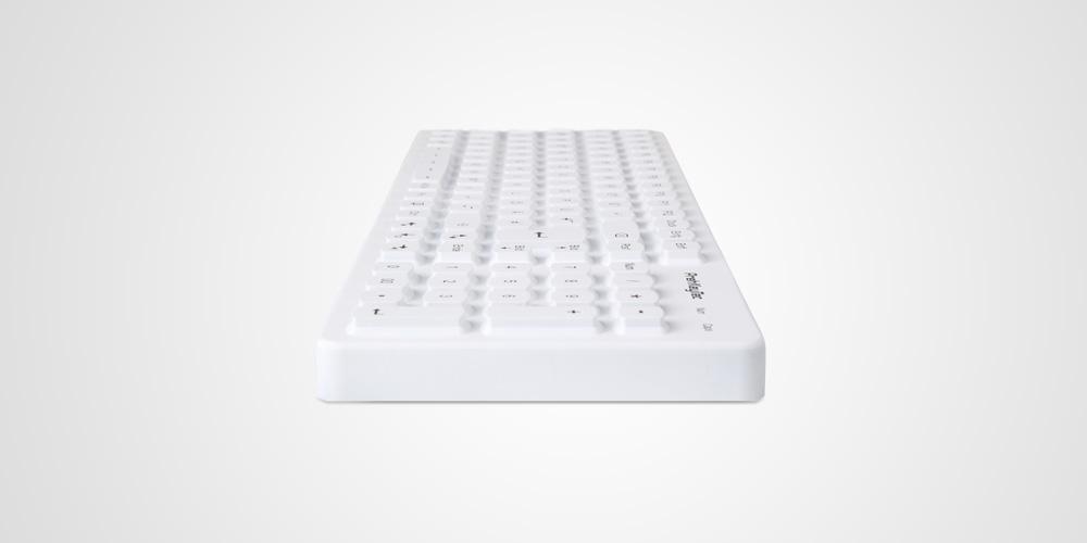 SIK 2500 Farbe weiß Beleuchtete USB Tastatur mit  Silikonoberfläche